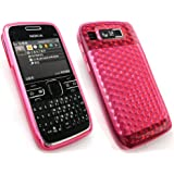 Emartbuy Nokia E72 Lcd Screen Protector Und Hexagonmuster Hülle / Case Pink