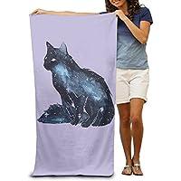 DIMANNU Toalla de baño para gatos con diseño de gatito ilustrado suave toalla de playa 78
