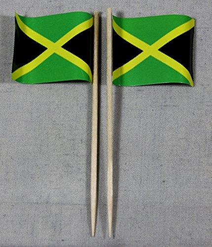 Jamaika Papierfähnchen in Profiqualität 50 Stück Beutel Offsetdruck Riesenauswahl aus eigener Herstellung ()