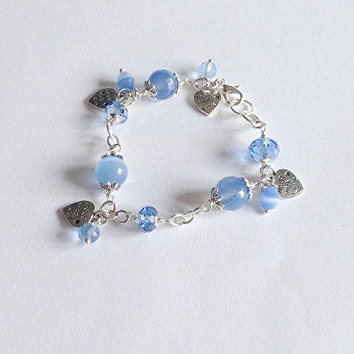 Bracciale Serenity con calcedonio azzurro e