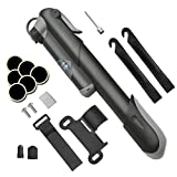 Bike Pump, [Perfect Full Set]E2Buy® Mini Bicycle Pump, Ball Pump, High Pressure with Needle, Glueless Patch Kit and Portable Pocket Handheld for Soccer,Basketball, Volleyball and Road Bicycle Tires