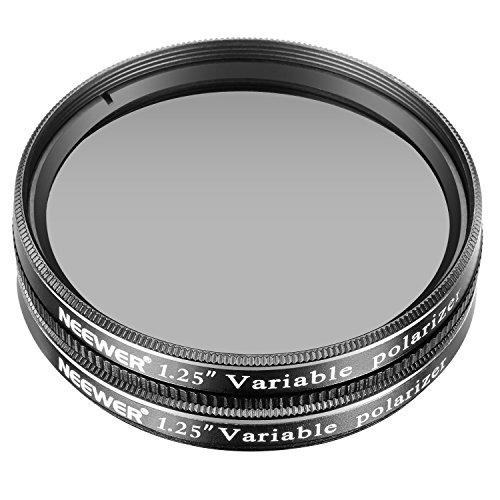 Neewer 1,25 Zoll 2 Stück Variable Zirkular Polirisator CPL Objektiv Filter für Teleskop und Okulare für die Dimension der Ansicht, Erhöhung Kontrast und Detail, reduzieren Blendung