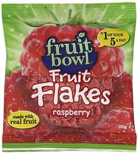 Fruit Bowl Fruit Flakes Raspberry 20 g (Pack of 24)