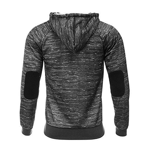 BicRad Herren Kapuzenpullover Hoodie Sweatshirt Slim Fit Sweater Pulli Sport Freizeit Schwarz Melange