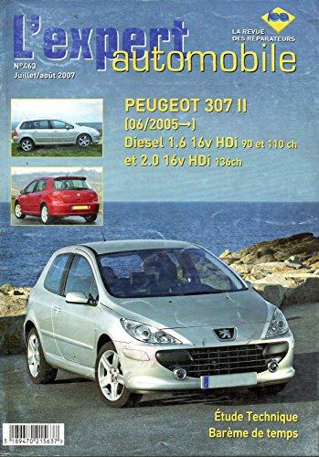 REVUE TECHNIQUE L'EXPERT AUTOMOBILE N 463 PEUGEOT 307 2 DEPUIS 06/2005 DIESEL 1.6 16V HDI 90 ET 110 CH ET 2.0 16V HDI 136 CH