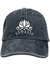 deyhfef Namaste Lotus Flower Unisex Adjustable Cotton Denim Hat Multicolor90 81d5a6ce7ab