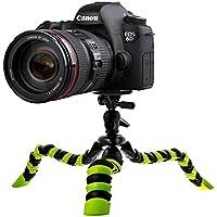Motionjoy Trípode Flexible del Trípode del Recorrido con Cabeza de Ball y Nivel de Burbuja para DSLR Videocámaras GoPro Cámara Grabadora de Vídeo - Negro / Verde