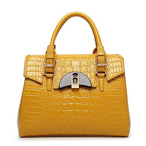Damen Mode Krokodil Muster Handtasche Schulter Messenger Bag A3