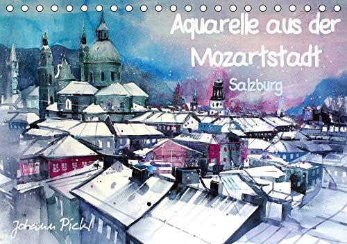 Aquarelle aus der Mozartstadt Salzburg (Tischkalender 2020 DIN A5 quer): Zeitgenössische Aquarelle aus der Stadt Salzburg von Johann Pickl (Monatskalender, 14 Seiten ) (CALVENDO Kunst) - Zeitgenössische Aquarelle