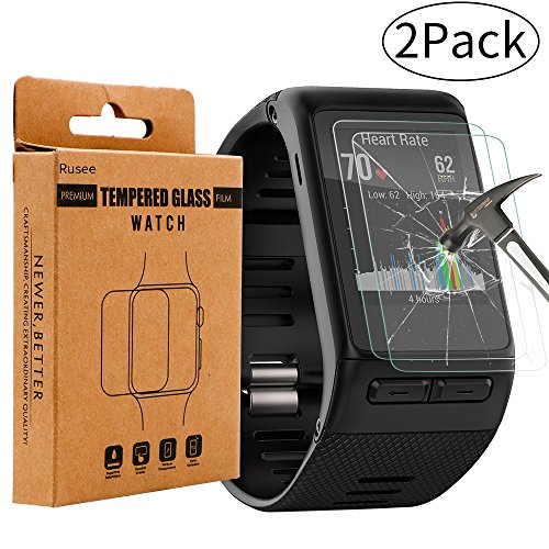 2-pack-garmin-vivoactive-hr-screen-protector-rusee-garmin-vivoactive-hr-tempered-glass-high-definiti