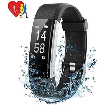 Mpow Pulsera Actividad Pulsera Inteligente con Monitor de Ritmo Cardíaco Calorías Sueño, Fitness Tracker con GPS Seguimiento de Rutas, Alarmas, Notificación ...