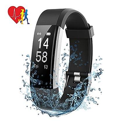 Pulsera Actividad Mpow – Pulsera Inteligente con Monitor de Ritmo Cardíaco Calorías Sueño, Fitness Tracker con GPS Seguimiento de Rutas, Alarmas, Notificación, Control de Cámara