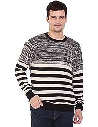 TAB91 Men's Cotton Rich Black Round Neck Pullover