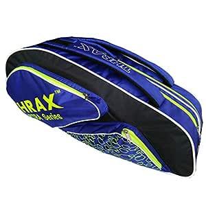 Thrax Astra Series Badminton Kit Bag Black Blue and Lime