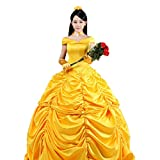 Pettigirl Mujer Disfraz Amarillo Vestidos Hermosos Halloween Cosplay Party Medium