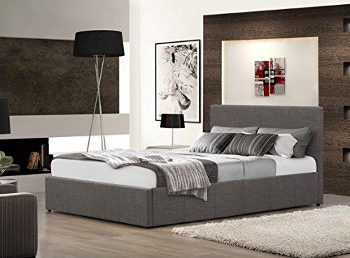 Birlea Berlin Ottoman Bed – Fabric, Grey, Small Double