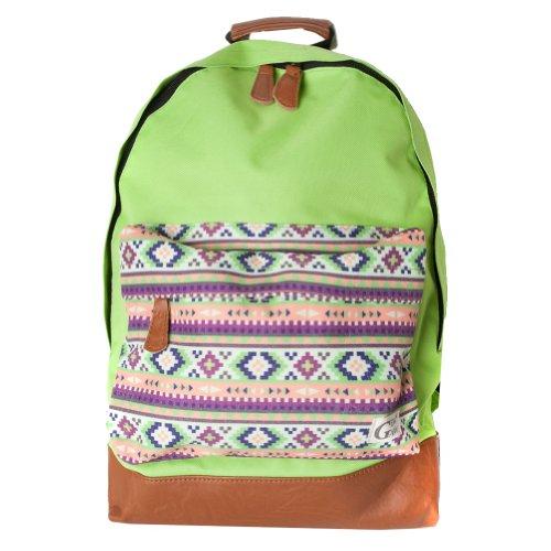 GewGaw-Neon Grün-Rucksack mit Azteken-Tasche