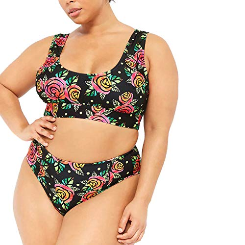 Ihengh donne un pezzo bikini donna high cut costume intero mare estate piscina costumi da bagno donna intero beachwear estraibile tankini moda estate casual ragazza(nero,large)