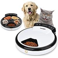 TOPHGDIY Automatisierte Katzen Futter-Spender Nassfutter Premium, Katzen-Futter-Automat für kleine bis mittele Hunde und Haustier Automatic Pet Feeder, 5 Tage / Mahlzeiten mit Sprachaufnahme und Timer