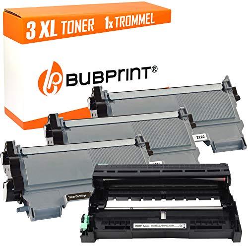 Bubprint 3 Toner & Trommel kompatibel für Brother TN-2220 TN-2010 DR-2200 für DCP-7055 DCP-7065DN HL-2130 HL-2270DW MFC-7360N MFC-7460DN MFC-7860DW -
