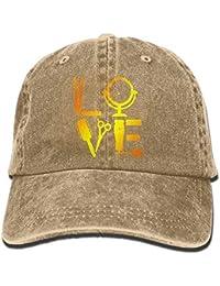 Huabuqi Peluquería Peluquería El Amor por su Gorra de béisbol Snapback de Sombrero de Mezclilla de