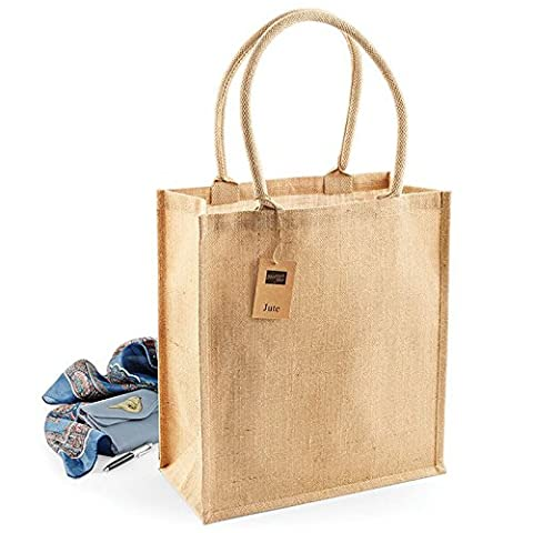 Westford Mill Laminated Jute Boutique Shopper Handle Length 65cm Over The Shoulder