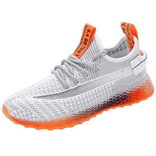 Mode Athletisch Sneaker,Casual Fliegen Gewebt Schuhe Damen Sportschuhe,Air Leichte Schuhe,Runnerschuhe-Joggingschuhe-Walkingschuhe-Fitnessschuhe Outdoor Mesh URIBAKY