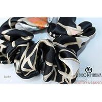 Elastico per capelli seta London - Realizzato a Mano - HandMade - regali bambina regali ragazza - Prodotto Artigianale - idee regali originali - regali di natale - regali per lei - natale