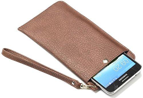Nnopbeclik Apple Iphone 7 Plus Hülle, Multifunktion Tasche Leder Case Echt Für Iphone 7 Plus, Retro Design Bark Muster Weich Leather Handytasche Schutz Reißverschluss Wallet Brieftasche und Karte Halt Braun