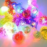 Etbotu 24 STÜCKE Nette Schöne LED Blinkende Gelee Ringe Fingerring Licht Spielzeug mit Verschiedenen Arten Weihnachten Party