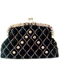 Beau diamant des femmes brillant haute qualité en PU sac d'embrayage avec la chaîne
