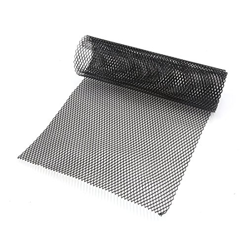 Zantec 6 x 12 mm Auto-Lüftungsgitter, Aluminium-Legierung, sechseckiges Kühlergrillgitter, schwarz