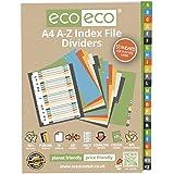 1 Set x 24pk eco-eco A4 50% Recicladas Índice alfabético Carpeta Documentos Plástico Separadores
