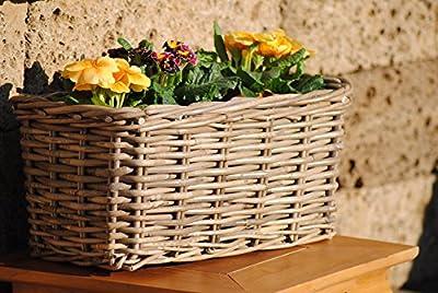 Weidenkorb,Jardinere,Blumenkasten,sehr stabil,bepflanzbar,40cm von florissima bei Du und dein Garten