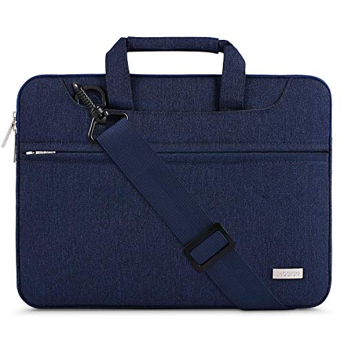 MOSISO Laptop Spalla Borsa Compatibile con 13 133 Pollici MacBook PROMacBook AirNotebookPoliestere Valigetta Borsa con Cintura TrolleyBlu Navy