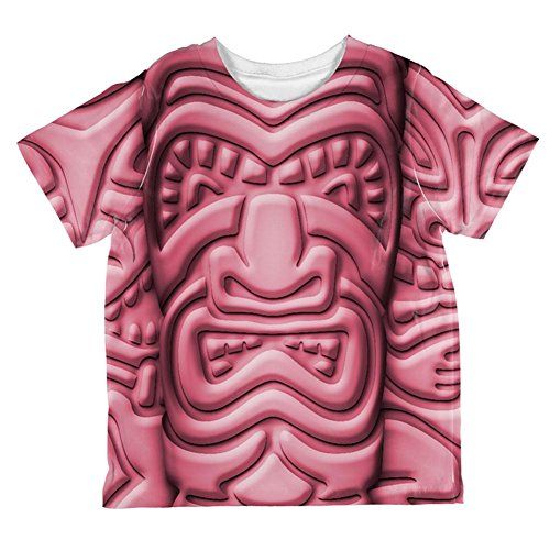 Tiki Gott Pink Gesicht Luau Ganz Kleinkind T-Shirt Multi 4T