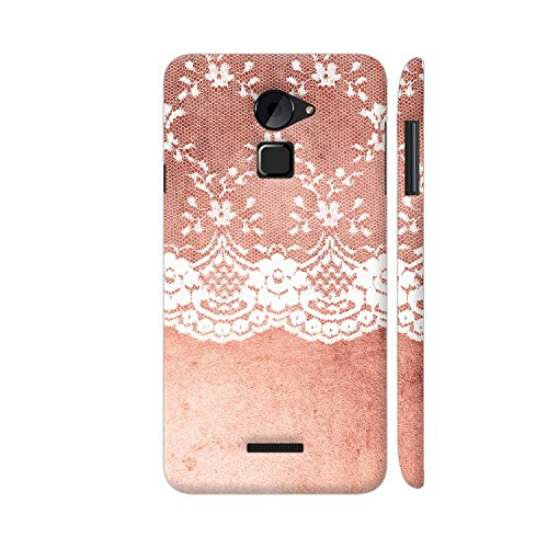 Colorpur Vintage Shabby Chic White Lace On Pink Grunge Metal Printed Back Case Cover for Coolpad Note 3 Lite