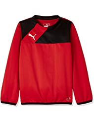 Puma Sweatshirt Esquadra Training Sweat - Sudadera de fitness para niño, color rojo, talla 152 cm