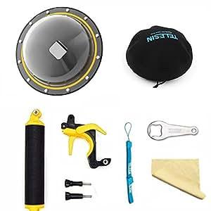 TELESIN Neue Version 15,2 cm T05 Dome Port unterwasserobjektiv Fotografie Dome Port mit Pistole Trigger und Dome Tasche für GoPro Hero 5/6 Black