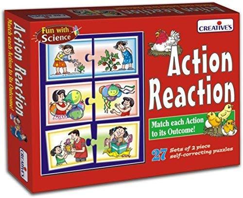 StonKraft Giocattoli per l'apprendimento in età prescolare - Azione Reazione | Giocattoli educativi | Giochi di apprendimento | Giochi di Sequenza per Bambini e Bambini