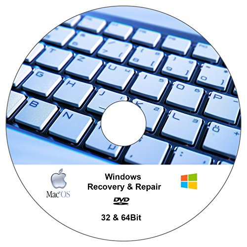 Windows 7 - 10 Recovery & Repair DVD CD - FÜR Win 10 Win 8 Win 7 - 32 & 64 Bit Version - Windows Reparatur DVD - NOTFALL DVD
