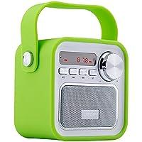 Bluetooth Lautsprecher mit Radio,Tragbar FM Radio Wireless Küchenradio - 5W 2200mAh 3.0 Bluetooth Drahtlose Lautsprecher mit Starken Bass & USB AUX Eingang,TF Steckplatz von VOOKI
