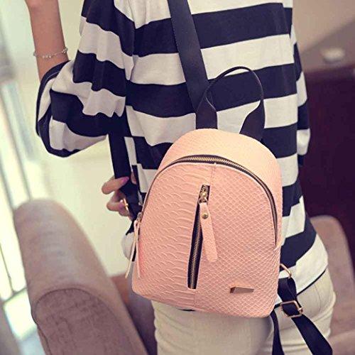 Imagen de goodsatar  mujer cuero de la pu  bolsa de viaje rosado, talla única  alternativa