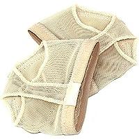 SODIAL® / los dedos de los pies de danza para mujer profesional de medición de la parte inferior del cebo zapatos de la película Borat protección pie juego de almohadillas antideslizantes Dance práctica de calcetines de polainas accesorios L traje de baño