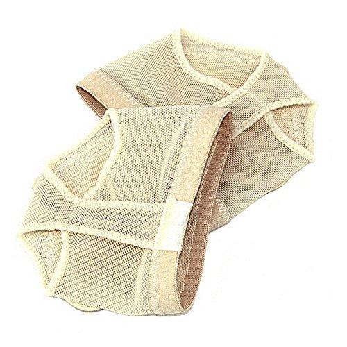 Ballett Kostüm Schuhe - TOOGOO(R) Profi Bauch / Ballett Tanz Zehen Pad Praxis Schuhe Fuss Tanga Schutz Tanz Socken Kostuem Gamaschen Zubehoer S