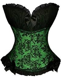 BSLINGERIE® Femmes Brocade lolita Overbust corset victorien Lingerie