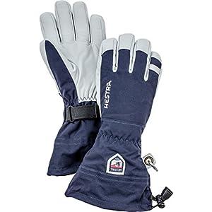 Hestra, Ski-Handschuhe Stulpe, Armee-Leder.