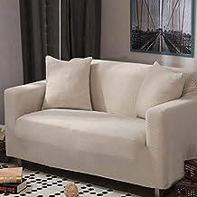 HM&DX Stretch Protecteur de canapé, Gamuza-como Sólido Funda Completa Diseño de la Simplicidad