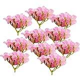 MagiDeal 10pcs Hortensie Kunstblumen aus Seide Hochzeit Dekor Blumenstrauß - Rosa