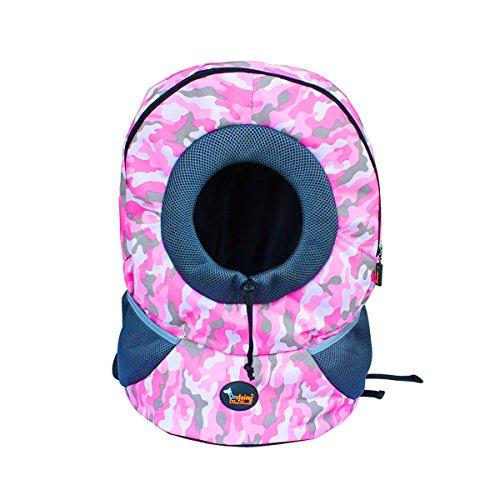 Ondoing Hundetasche Rucksack In 7 Farben erhältlich Größe S/M (M, Rosa -Camouflage)